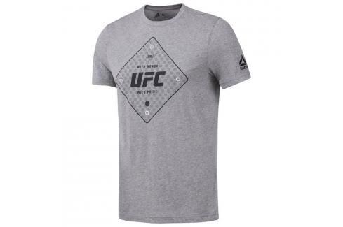 Reebok Triko UFC - šedá šedá M Pánská trička