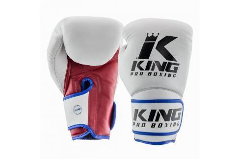 King Pro Boxing boxerské rukavice - tricolor trikolora 12 Boxerské rukavice