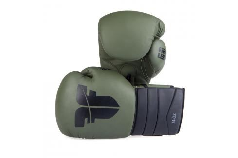Boxerské rukavice Fighter Sparring - Khaki/černá Khaki 14 Boxerské rukavice