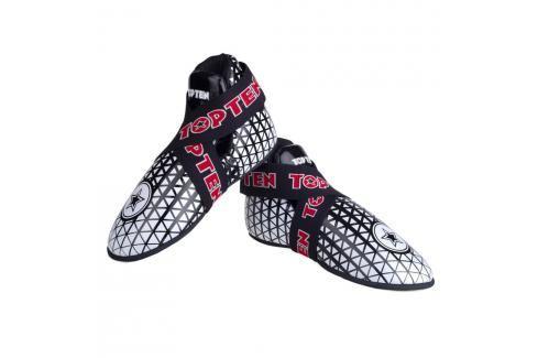 Chrániče nohou TOP TEN Triangel - bílá/černá černá S Boxerské chrániče
