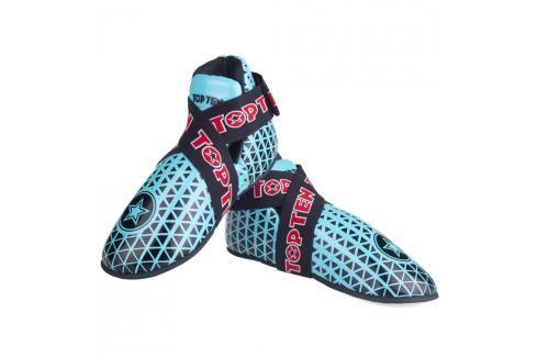Chrániče nohou TOP TEN Triangel - modrá/černá černá XS Boxerské chrániče