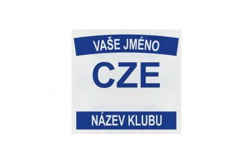 BACKNUMBER JUDO 22x21 cm bílá Kimona