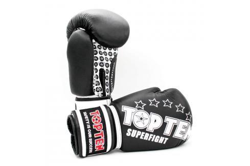 Boxerské rukavice Top Ten Superfight Stars - černá/bílá černá 10 Boxerské rukavice