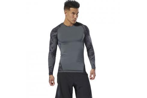 Reebok Jacquard Rashguard - černá černá S Pánská trička
