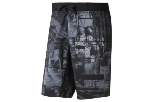 Reebok Moonshift šortky - černá/modrá černá S Pánské šortky