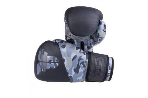 Boxerské rukavice Fighter SPLIT- černá/maskáč černá 10 Boxerské rukavice