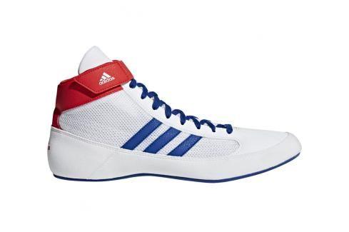 Zápasnická obuv adidas HVC - bílá/modrá/červená bílá 10 Pánská obuv