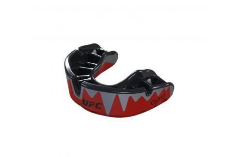 Chrániče zubů - OPRO UFC - Platinum level - Fangz - červená/stříbrná červená Boxerské chrániče
