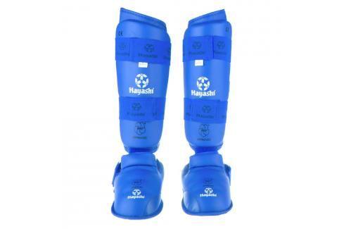 Chrániče holení a nártů Hayashi WKF - modrá modrá L Boxerské chrániče