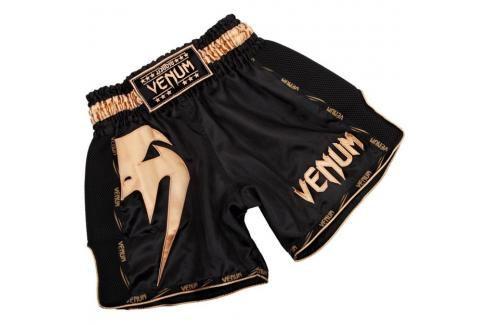 Venum Giant Muay Thai trenky - černá/zlatá černá S Pánské šortky