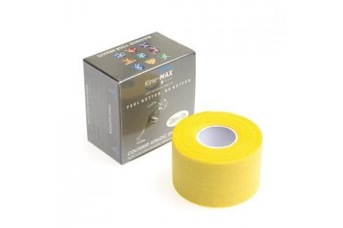 Neelastická tejpovací páska Kine-MAX Team Tape - žlutá žlutá 3,8cm x 10m Boxerské bandáže
