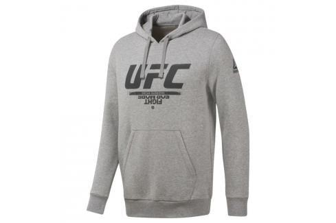 Reebok UFC Fan mikina - šedá šedá S Pánské mikiny