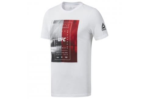 Reebok UFC Octagon triko - bílá bílá S Pánská trička