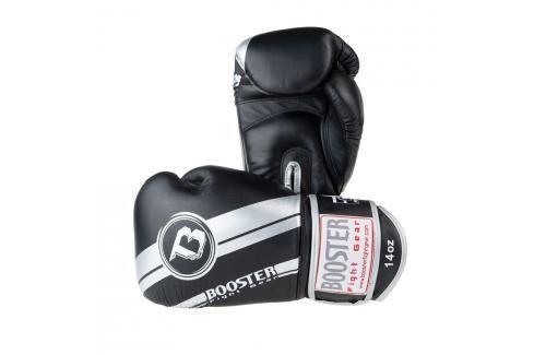 Boxerské rukavice Booster Silver Foil - černá/stříbrná černá 10 Boxerské rukavice