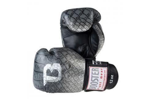 Boxerské rukavice Booster Snake - černá/stříbrná černá 10 Boxerské rukavice