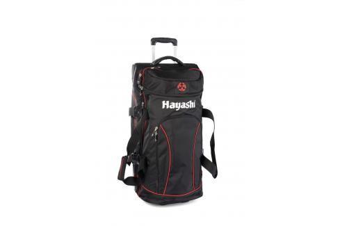 Cestovní taška Hayashi na kolečkách - černá/červená černá L Cestovní zavazadla