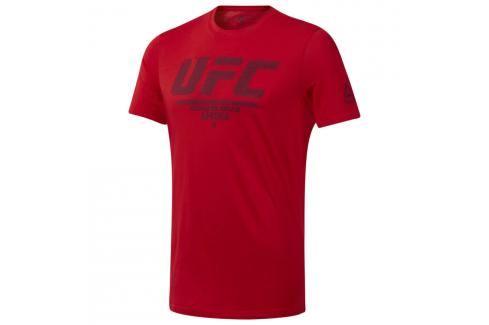 Reebok UFC Fan Gear Logo triko - červená červená S Pánská trička