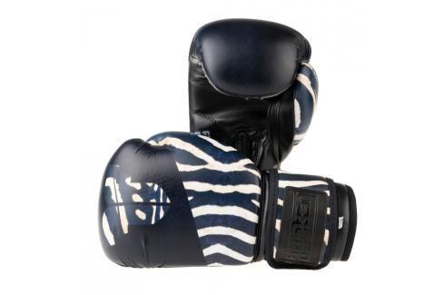 Boxerské rukavice Fighter Jungle Series - zebra černá 6 Boxerské rukavice