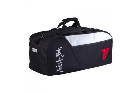 Sportovní taška FIGHTER kaligrafie - černá černá M Batohy