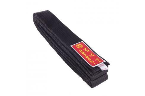 Saténový karate pásek - černý černá 260 Pásky ke kimonu
