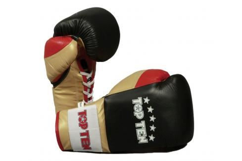 Boxerské rukavice Top Ten Profi - černá/zlatá černá 10 Boxerské rukavice