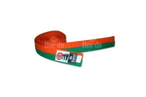 Pásek Daedo - oranžová/zelená oranžová 240 Pásky ke kimonu