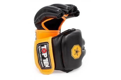 MMA Rukavice - TOP TEN Striking C-Type - černá/oranžová černá M Boxerské rukavice