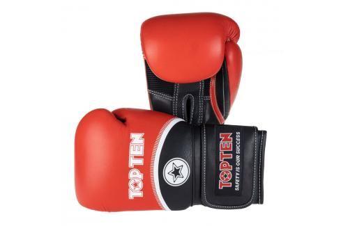 Boxerské rukavice Top Ten 4Select - červená/černá červená 16 Boxerské rukavice