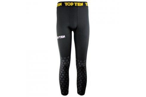 Pánské legíny Top Ten MMA Black Print - černá černá S Pánské kalhoty