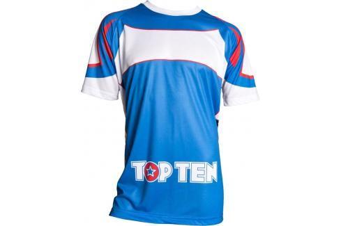 Top Ten tréninkové triko - modrá/bílá modrá L Pánská trička