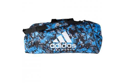 Sportovní taška adidas Taekwondo 2in1 - modrý maskáč modrý maskáč Batohy