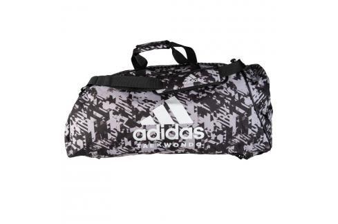 Sportovní taška adidas Taekwondo 2in1 - černá/bílá černá L Batohy