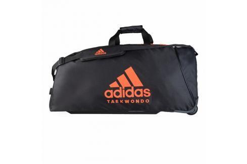 Taška adidas na kolečkách - TKD TROLLEY - černá/oranžová černá Cestovní zavazadla