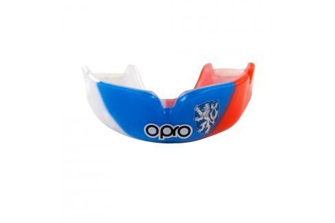 Chrániče zubů - OPRO PWF CZECH - tricolora trikolora Boxerské chrániče
