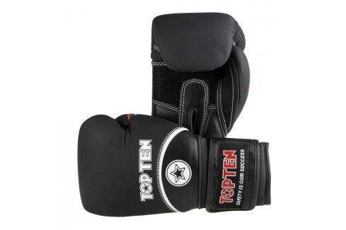 Boxerské rukavice Top Ten 4Select - černá/bílá černá 12 Boxerské rukavice