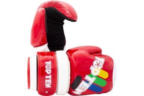 Otevřené rukavice Top Ten Glossy ITF - červená červená S Boxerské rukavice