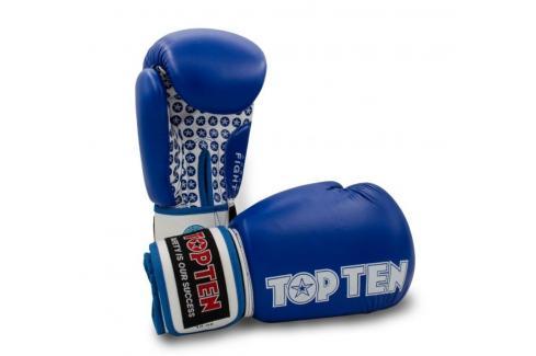 Boxerské rukavice TOP TEN Fight - modrá/bílá modrá 10 Boxerské rukavice