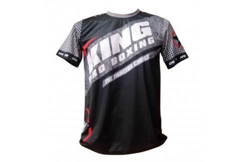 Tréninkové triko King ProBoxing Star Vintage Stone - černá/šedá černá Junior S Pánská trička