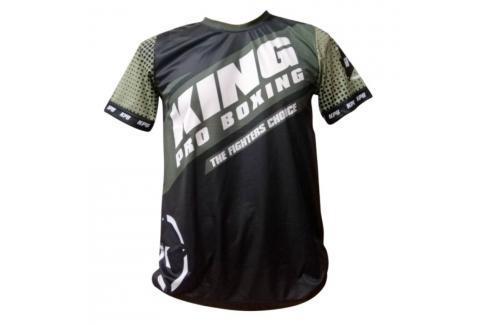 Tréninkové triko King ProBoxing Star Vintage Stone - černá/khaki černá Junior S Pánská trička