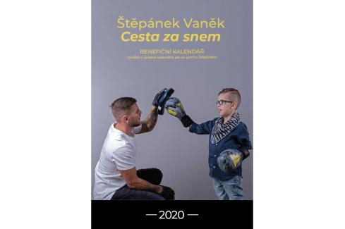 Benefiční kalendář - Štěpán Vaněk cesta za snem mix barev Knihy