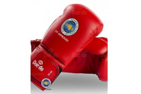Boxerské rukavice Daedo ITF - červená červená 10 Boxerské rukavice