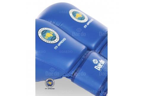 Boxerské rukavice Daedo ITF - modrá modrá 10 Boxerské rukavice