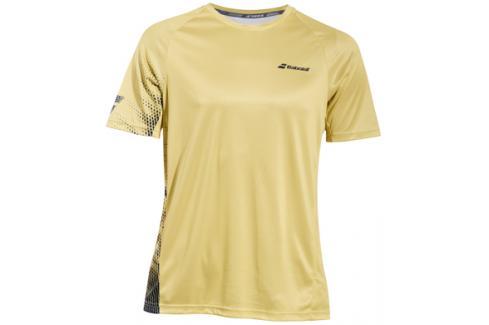 Pánské tričko Babolat Performance Crew Neck Tee Yellow Trička s krátkým rukávem