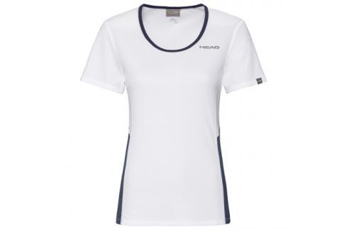 Dámské tričko Head Club Tech White/Navy Dámská trička