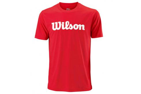 Pánské tričko Wilson Script Red Trička s krátkým rukávem