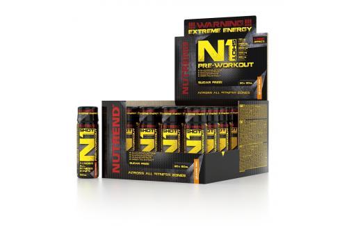 Nutrend N1 Shot Pre-Workout 20 x 60 ml Stimulanty a energizéry