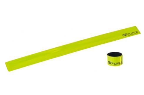 Pásek reflexní FORCE samonavíjecí 38 cm, žlutý Cyklistické příslušenství