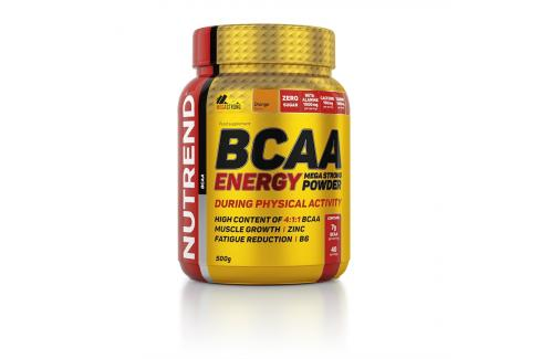 Nutrend Bcaa Energy Mega Strong Powder 500 g Aminokyseliny