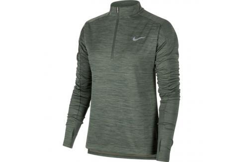 Dámská mikina Nike pacer Top HZ zelená Dámské mikiny