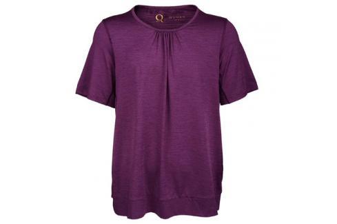 Dámské tričko Endurance Q Bree SS Melange Tee fialové Dámské oblečení